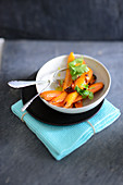 Roasted carrots with coriander
