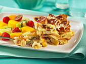Apple bacon french toast strata