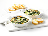 Baked spinach gratin