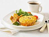 Frittata mit Speck, Pilzen und Käse