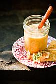 Maissuppe im Glas zum Picknick
