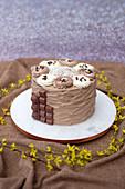 A Kinder chocolate cake