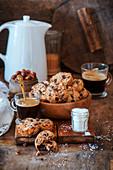 Haselnuss-Schokoladen-Cookies mit Meersalz