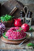 Granatapfelkernsalat mit Rucola