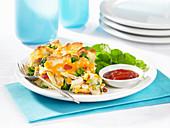 Tortilla-Auflauf mit Huhn und Gemüse