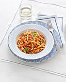 Maccheroni al ferretto (homemade macaroni, Italy)