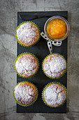 Orange marmelade muffins