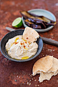 Baba Ghanoush (aubergine and sesame seed cream, Israel)