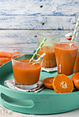 Carrot clementine juice