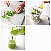 Schnellen Grünkohl-Smoothie zubereiten