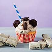Cookies And Cream Milkshake Cupcake für eine Kinderparty