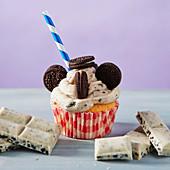 Cookies and cream milkshae cupcake