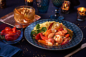 Lobster with couscous for Christmas