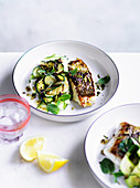Sicilian Snapper with zucchini, mint and pistachio nuts