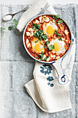 Shakshuka with feta cheese