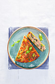 Frittata with tomatoes and beans