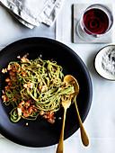 Tagliolini alla granseola (Pasta mit Krabbenfleisch)
