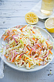 Coleslaw with lemon dressing