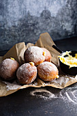 Doughnuts with lemon curd