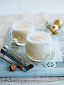 Eggnog with nutmeg (Christmas)