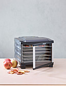 A dehydrator and apples