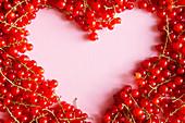 Rote Johannisbeeren mit Herz