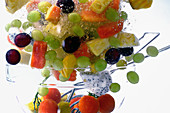 A fruit salad underwater