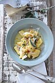 Polenta with sage and parmesan