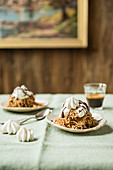 Chestnut purée with whipped cream