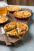 Mini cheese and onion quiches