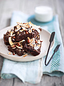 Hazelnut and coconut brownies