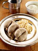 Liver sausage with sauerkraut