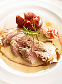 Pheasant breast fillet with rosemary figs