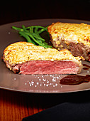 Strindberg beef loin with a mustard crust
