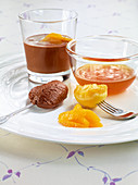 chocolate mousse with orange sauce
