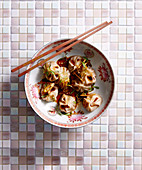 Asian soupy Dumplings
