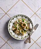 Italian pea and Parmesan Tortellini