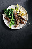 Beef Kushiyaki with grilled potato salad