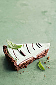 Chocolate and mint pie
