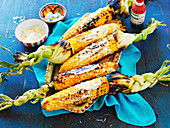 Spiced grilled corn, vegetable