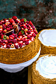 A summer berry cake with figs