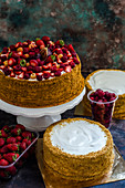 Summer berry cakes