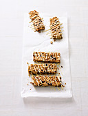 Oat bars with cherries and coconut