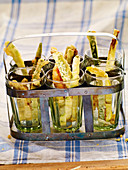 Vegetable tempura sticks