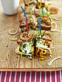 Saffron and fennel sandwiches with chive yoghurt