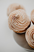 Cupcakes with chocolate chips and frosting
