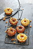 Vegan spelt doughnuts with chocolate glaze