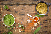 Italian stock paste and strong, spicy stock paste (vegan)