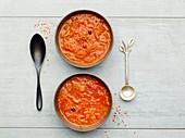 Red sauerkraut soup