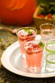 Raspberry Lemonade Cocktails with Fresh Mint